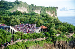 Theatre at Uluwatu Temple, Bali, Indonesia Royalty Free Stock Images