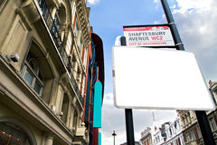 Theatreland в городе Вестминстера стоковое фото rf