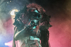 Theatres des Vampires σε Midian ζωντανή Κρεμόνα 06-05-2017 Στοκ Εικόνα