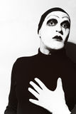 Theatrical actor with dark mime makeup Royalty Free Stock Image