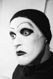 Theatrical actor with dark mime makeup Royalty Free Stock Photo