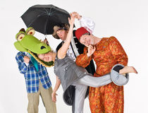 Theatrical actors in costume royalty free stock image