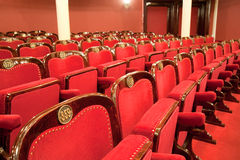 Theatrical armchairs Stock Photo