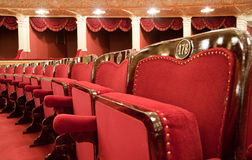 Theatrical armchairs Royalty Free Stock Images