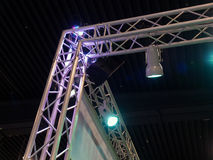 Theatrical Concert Stage Lights. Details of Theatrical Concert Exhibition Stage Lights royalty free stock photography