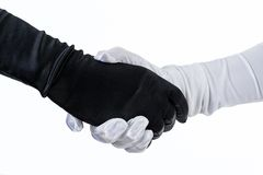 Theatrical costumed handshake Royalty Free Stock Images