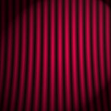 Theatrical curtain. Red background with theatrical curtain and pleats Royalty Free Illustration