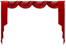 Theatrical Curtain. A isolated 3d Theatrical Curtain Royalty Free Stock Image