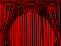 Theatrical curtain Stock Image