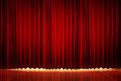 Theatrical curtain Royalty Free Stock Images