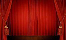 Theatrical curtain Stock Images