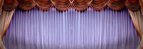 Theatrical curtain Royalty Free Stock Photography