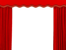Theatrical curtain of red color Royalty Free Stock Photo