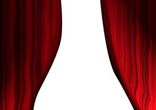 Theatrical curtains Stock Images