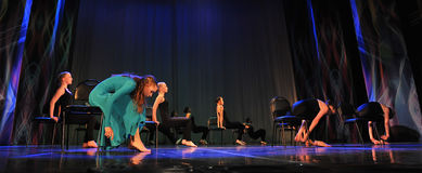 Theatrical dance performance Stock Images