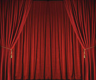Theatrical Drapes. Indoors before show Royalty Free Stock Image
