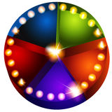 Theatrical Lights Pie Chart. An image of a theatrical lights pie chart Stock Photo
