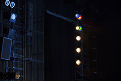 Theatrical lights on stage Stock Photography