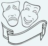 Theatrical mask. Comedy and Tragedy theatrical mask Royalty Free Stock Photo