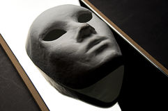 Theatrical mask reflection Stock Images