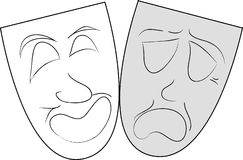 Theatrical masks. On image two theatrical masks Royalty Free Stock Image
