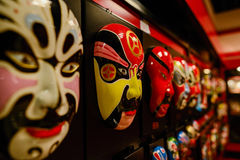 Theatrical masks,Chinese opera facial make-up. Colorful theatrical masks,Chinese opera facial make-up Royalty Free Stock Photography