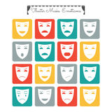 Theatrical masks, emoticons Royalty Free Stock Image