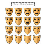 Theatrical masks, emoticons Royalty Free Stock Photography