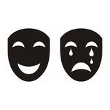 Theatrical masks Royalty Free Stock Image