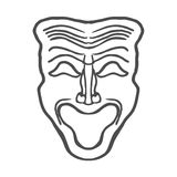 Theatrical masks Vector Illustration Royalty Free Stock Photos