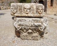 Theatrical maskuje Myra, Reliefowy rzeźba mróz od rzymianina t Zdjęcie Stock