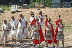 Theatrical performance in Ephesus, Turkey Stock Photos