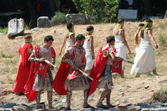 Theatrical performance in Ephesus, Turkey Royalty Free Stock Photo