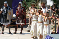 Theatrical performance in Ephesus, Turkey Royalty Free Stock Images