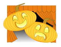 Theatrical Pumpkins Stock Photo