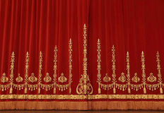 Theatrical red curtain royalty free stock photos