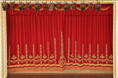 Theatrical red curtain Stock Photography