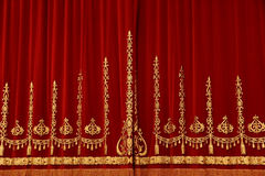Theatrical red curtain Stock Image