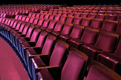 Theatrical seating Royalty Free Stock Photo