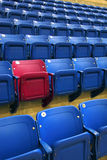 Theatrical seating and yours stands out Stock Image