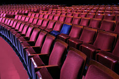 Theatrical seating and yours stands out Royalty Free Stock Image