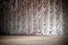 Theatrical stage background. An empty theatrical stage background Stock Photos