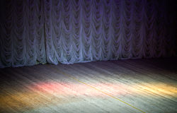 Theatrical stage background. An empty theatrical stage background Stock Photography