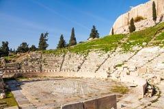 Theatro Dionisou zakończenia widok w Ateny, Grecja Obraz Stock