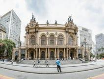 Theatro municipal de PS de Sao Paulo, Br?sil photographie stock libre de droits