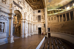 Theatro Olympico in Vicenca is the oldest surviving stage set Royalty Free Stock Images