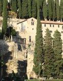 Theatro Romano i Verona royaltyfri foto