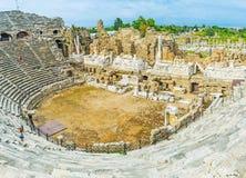 Theatron of Side Amphitheater Stock Photos