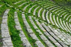 Theatron van het oude Griekse theater Royalty-vrije Stock Foto's