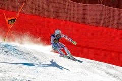 Theaux Adrien στο αλπικό Παγκόσμιο Κύπελλο σκι Audi FIS - ατόμων προς τα κάτω Στοκ Εικόνες
